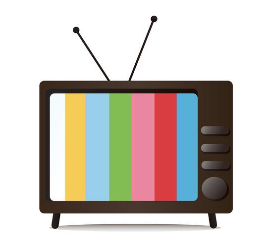 televisie en lege ruimtevector vector