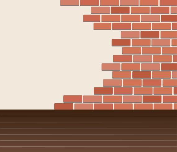 Muur van bakstenen en ruimteachtergrondkunstvector vector