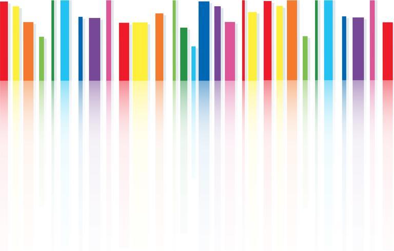 regenboog lijn abstracte kunst achtergrond vector