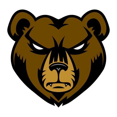 Bear boos gezicht cartoon vector