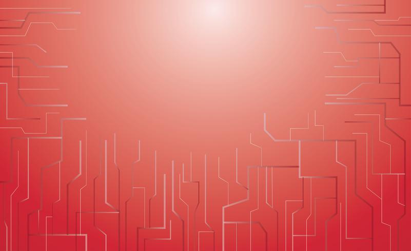 rode microchip technologie achtergrond vector