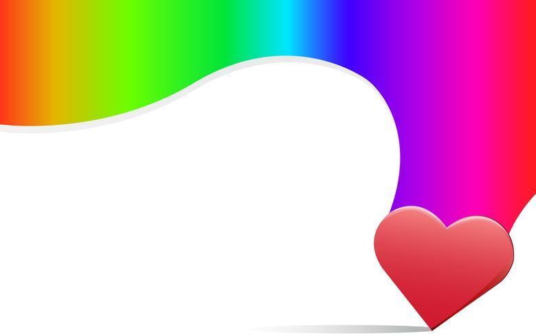 regenboog liefde teken achtergrond vector