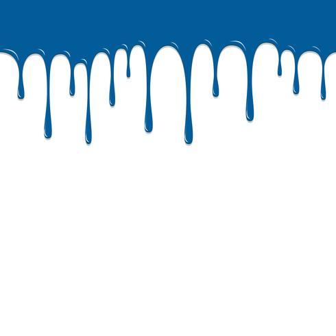 Verf Blauwe kleur te laten vallen, kleur Droping achtergrond vectorillustratie vector