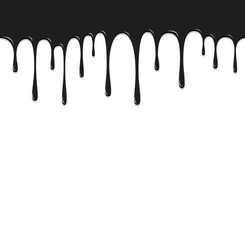 Verf zwarte kleur te laten vallen, kleur laten vallen achtergrond vectorillustratie vector