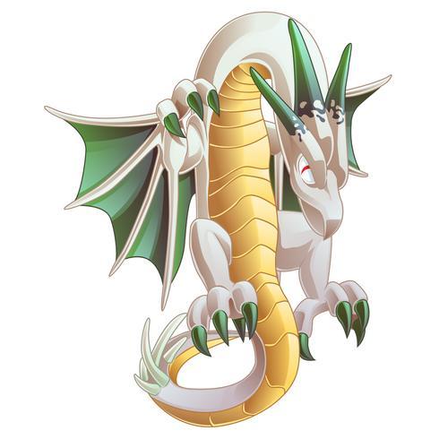 Dragon is een dier in sprookjes. vector