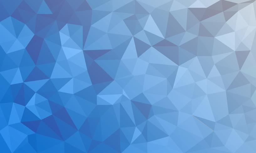 abstracte blauwe achtergrond, laag poly getextureerde driehoek vormen in willekeurige patroon, trendy lowpoly achtergrond vector