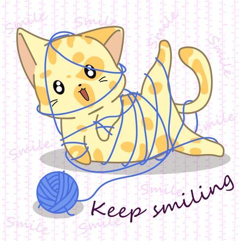 Kleine kat is stout. vector