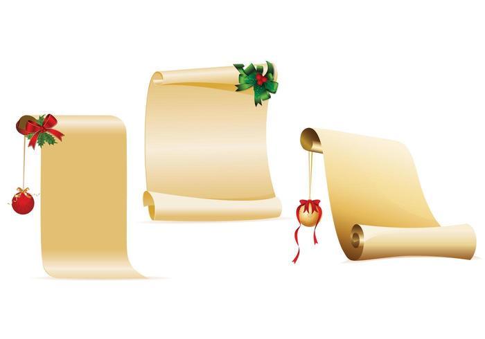 Ingericht Christmas Scroll Vector Pack