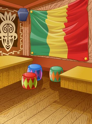 Vector Jamaica houten club is kleurrijk.