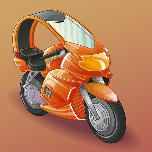 motorfiets. vector