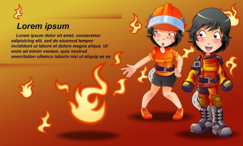 brandweerman. vector