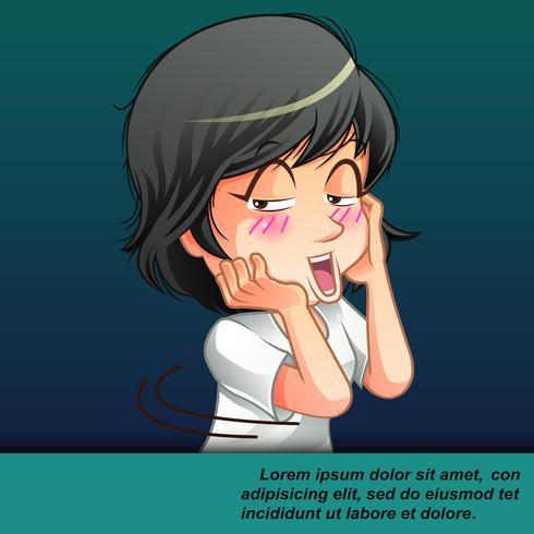 verlegen schattige cartoon. vector