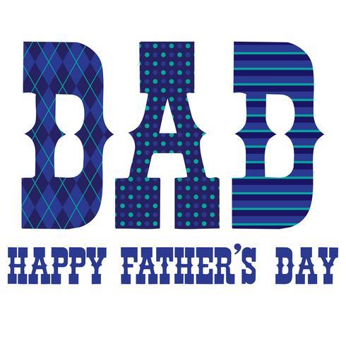 Vaderdag typografie afbeeldingen met blauwe patronen vector