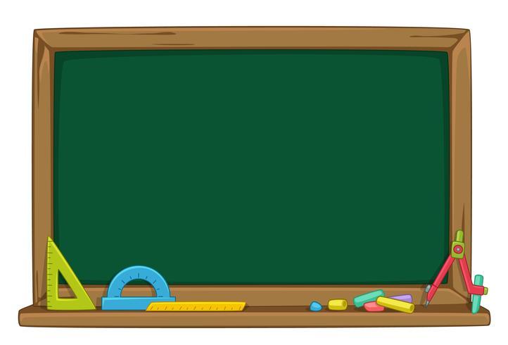 Lege groene schoolbord vectorillustratie vector