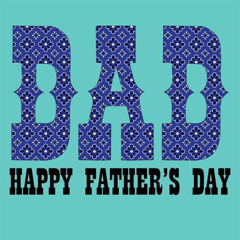 Grafische de typografie van het vaderdag blauwe bandanapatroon vector