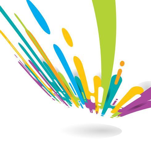 Abstracte felle kleur afgerond vormen lijnen overgangsperspectief achtergrond vector