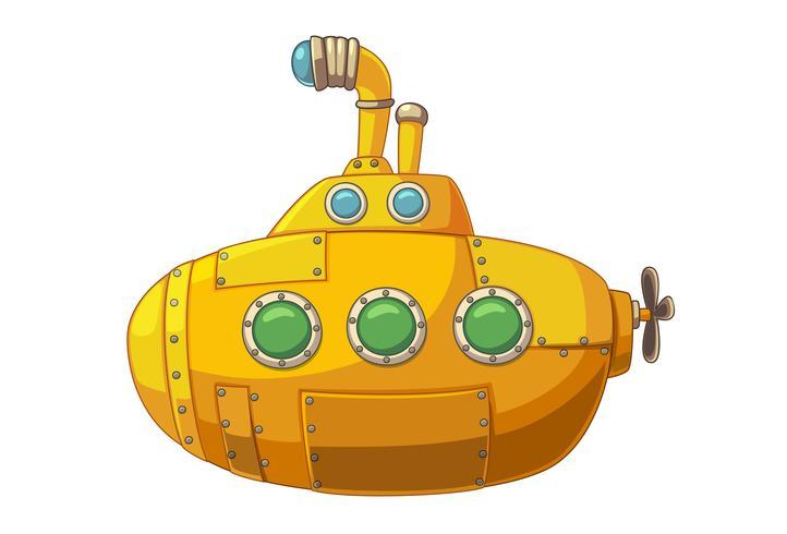 Leuke gele onderzeeër vector