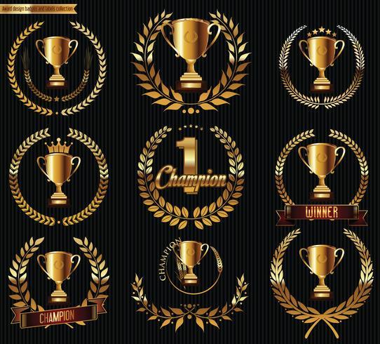 Trofee-emblemen vector