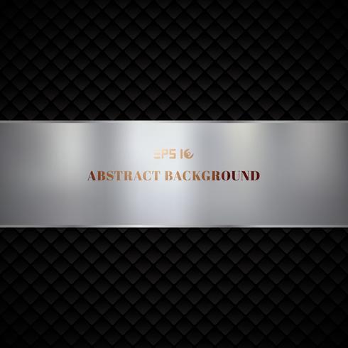 Abstract het patroonontwerp van luxe zwart geometrisch vierkanten op donkere achtergrond vector
