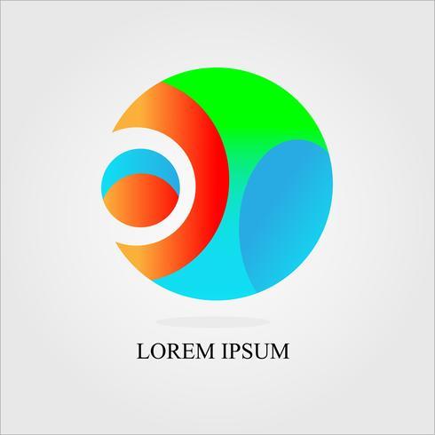 cirkel ontwerp logo vector: concept in de sport, de bal en de mens vector