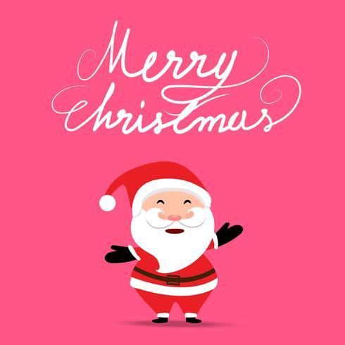 Kerstmisachtergrond met Santa Claus-de zak van holdingsgiften op de zachte achtergrond van de pastelkleur roze kleur vector