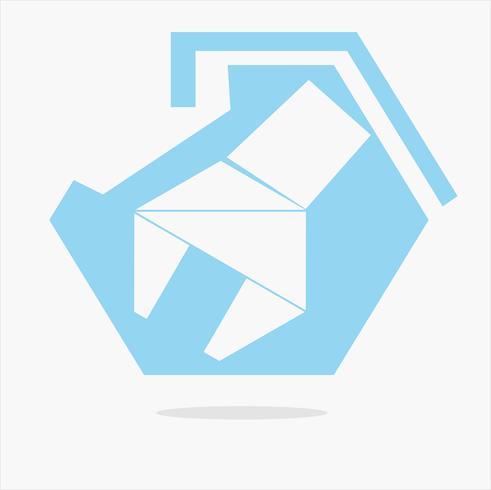 blauwe moersleutel tool logo vector: concep in ontwerpen voor reparatie vector