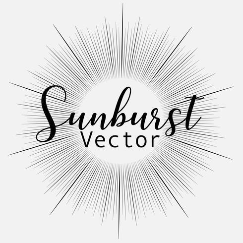 Zonnestraalstijl op witte achtergrond, Barstende stralen vectorillustratie wordt geïsoleerd die. vector