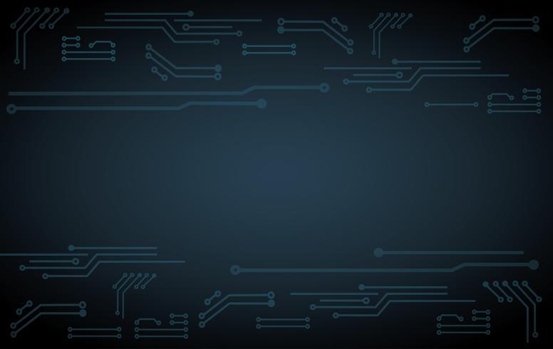 abstracte futuristische printplaat illustratie technologie donkere blauwe kleur achtergrond vector
