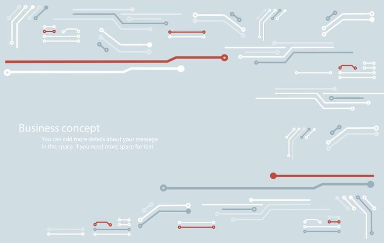 abstracte printplaat technologie lijn achtergrond vector