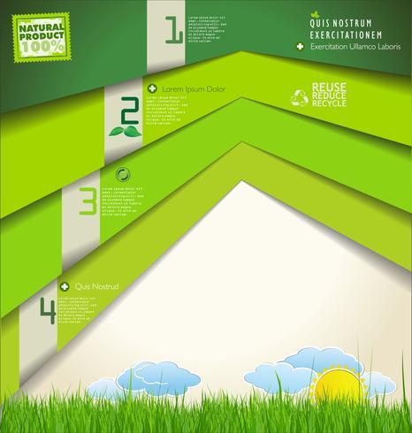 Moderne ecologie ontwerpsjabloon vector