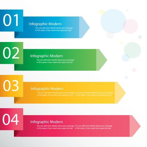 Pijl infographic concept. Vectormalplaatje met 4 opties, delen, stadia, knopen. Kan worden gebruikt voor web, diagram, grafiek, presentatie, grafiek, rapport, stap voor stap infographics. Abstracte achtergrond. vector