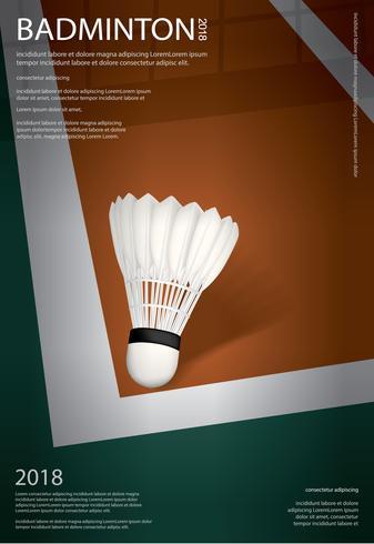 Badminton kampioenschap Poster vectorillustratie vector