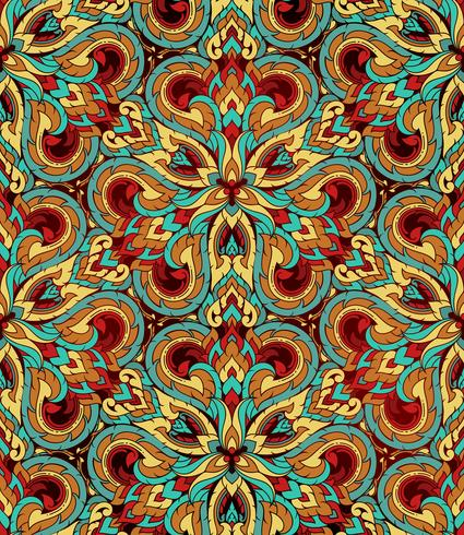Thais traditioneel etnisch kunst abstract, naadloos patroon. vector