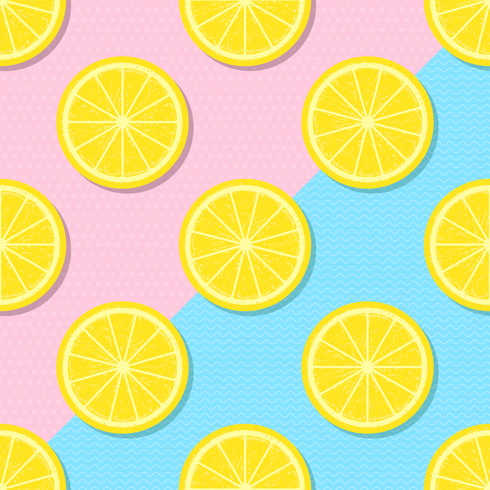 Plak gele citroen zomer achtergrond vector