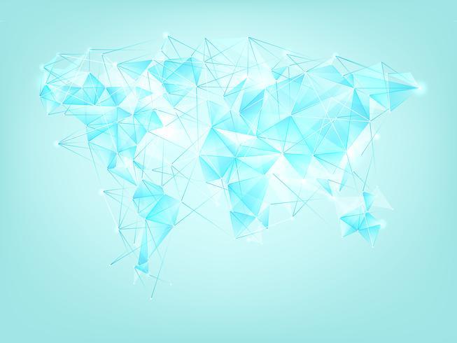 Wereldkaart veelhoek abstracte achtergrond. vector