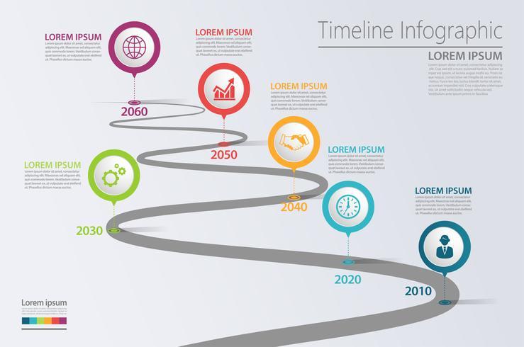 Presentatie Zakelijke routekaart infographic sjabloon vector