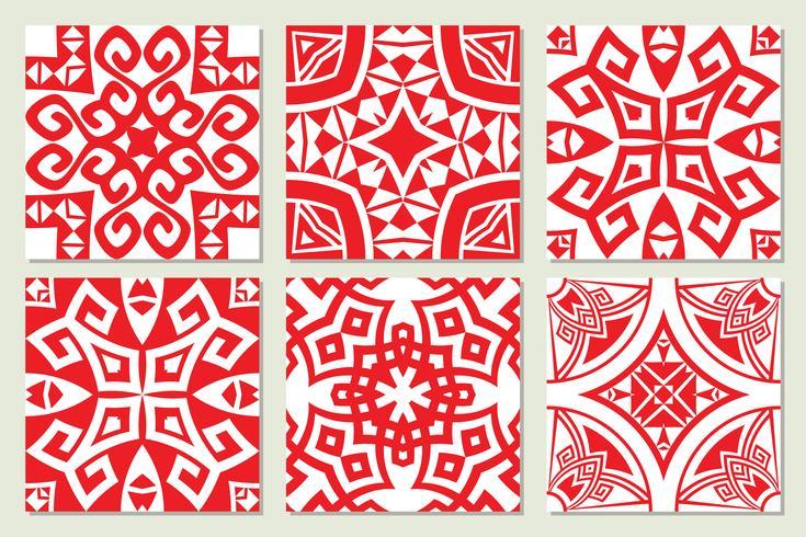 abstracte geometrische etnische naadloze texturen vector