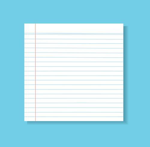 papier lijn vector achtergrond, gedetailleerde bekleed papier textuur