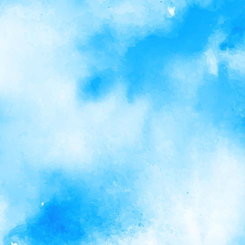 Abstracte blauwe waterverfachtergrond vector