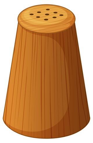Peperschudbeker van hout vector