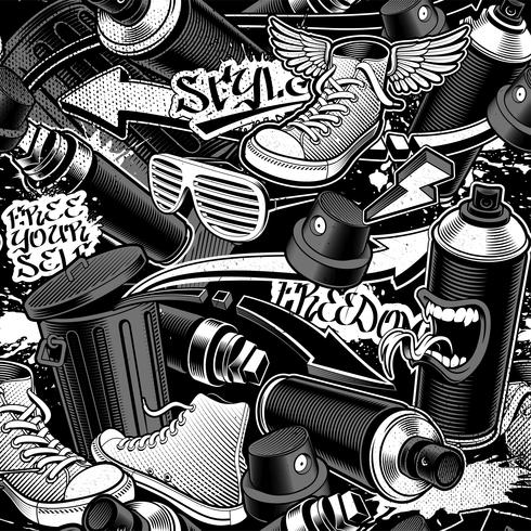 Graffiti naadloos patroon vector