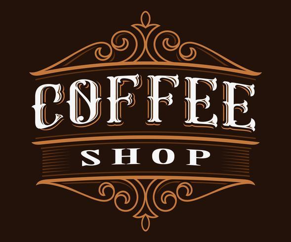 Koffie vintage belettering. vector