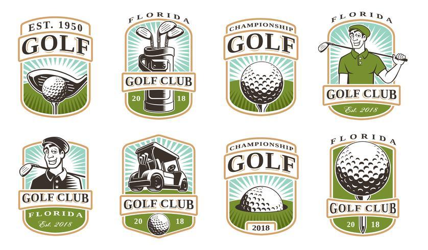 Golf vector set (12 logo's)