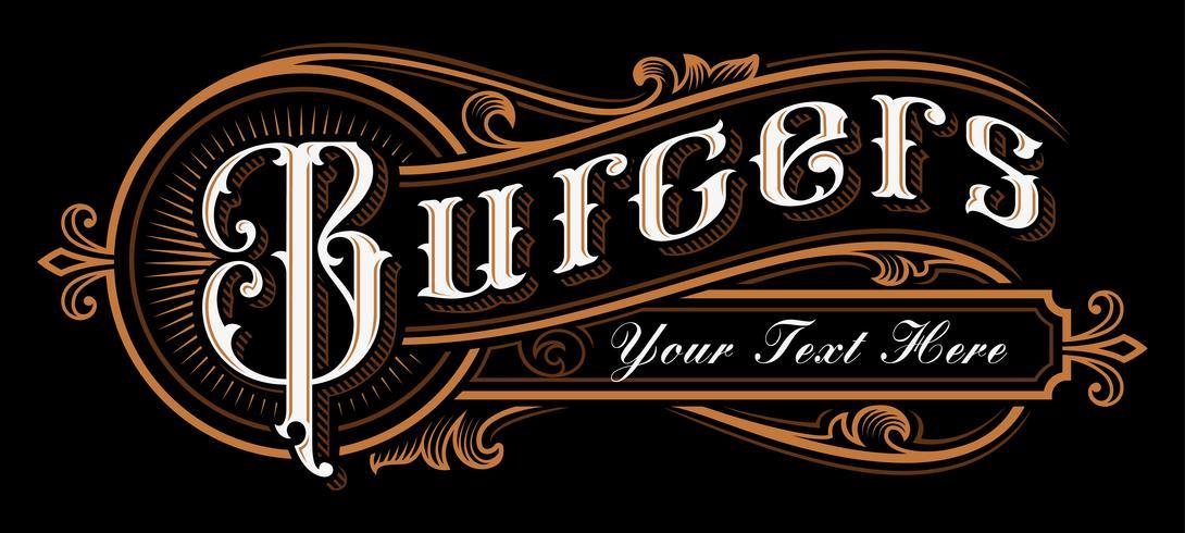 Burgers belettering ontwerp. vector
