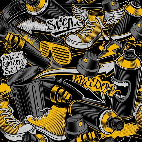 Naadloos graffitipatroon vector