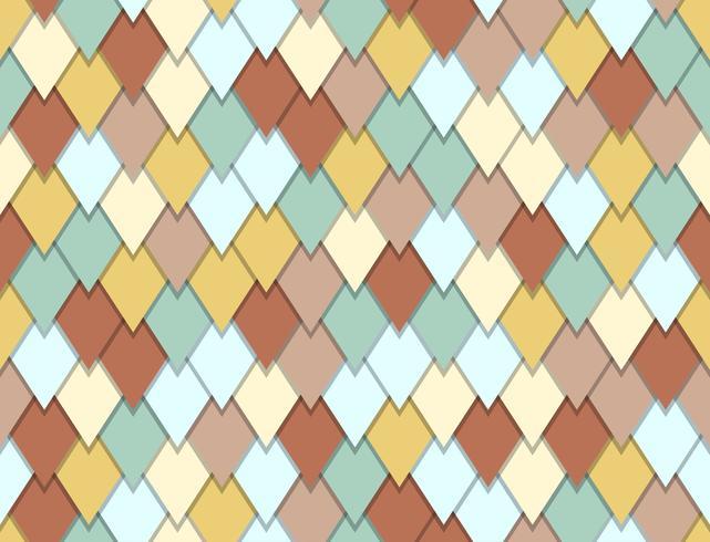 Naadloos patroon van overlappende de pastelkleurachtergrond van de driehoeksvorm vector