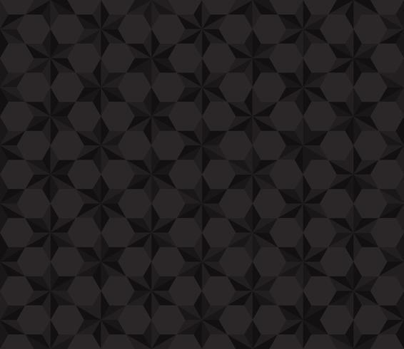 Naadloze patroon zwarte sterren veelhoek achtergrond - vectorillustratie vector