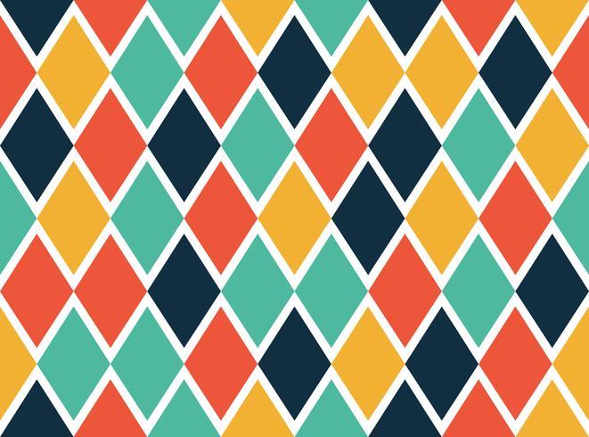 Naadloos patroon van kleurrijke geometrische vormen - Vectorillustratie vector