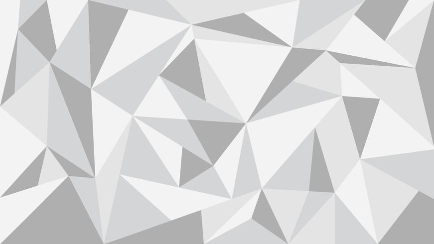 Grijze toon veelhoek abstracte achtergrond - vectorillustratie. vector