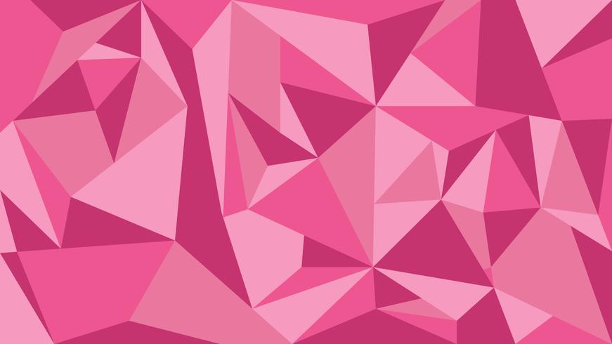 Roze toon veelhoek abstracte achtergrond - vectorillustratie. vector